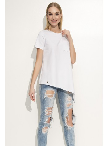 Блузка белая из креп-шифона