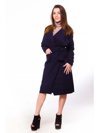 Пальто на запах без подкладки