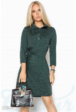 Ангоровое платье рубашка с кокеткой