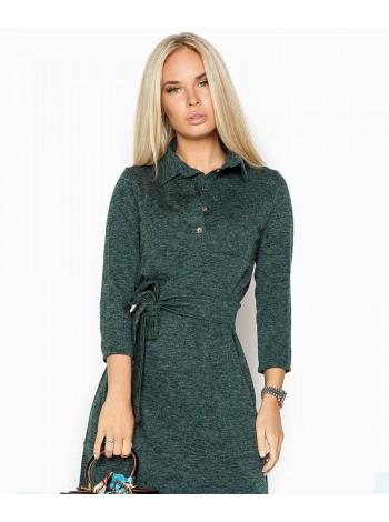 Ангоровое платье с кокеткой