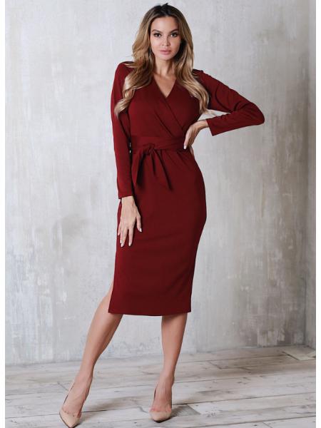 Платье с поясом Француз