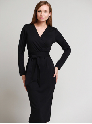 Платье с поясом Француз Ч