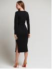 Платье с поясом Француз черное