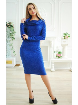 Ангоровое платье-хомут