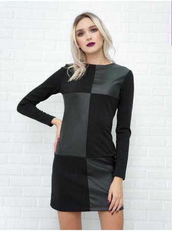 Платье клетка черное