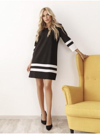 Платье трапеция черное