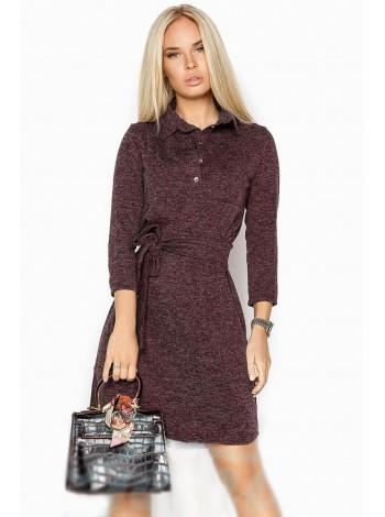 Ангоровое платье рубашка коричневое