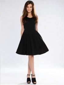 Черное летнее платье куколка