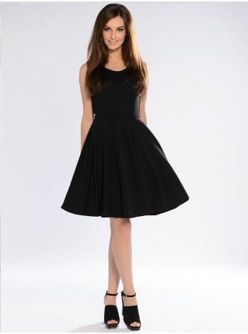 Черное летнее платье. Сезон весна - лето