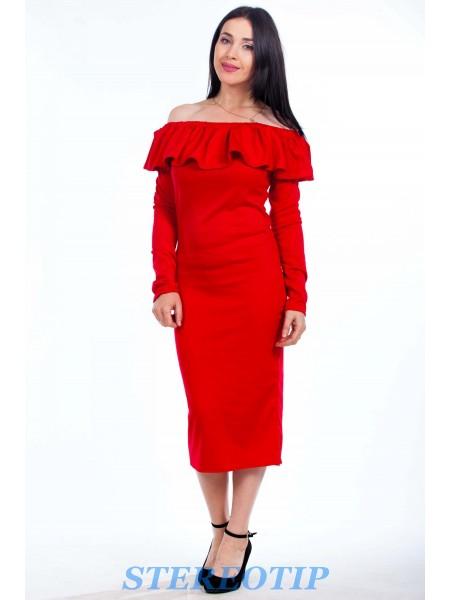 Платье волан под заказ ЗПТ52