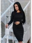Платье облегающее из ангоры софт в черном цвете