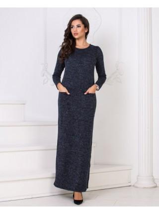 Платье в пол теплое