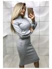 Платье ангора с открытыми плечами