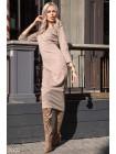 Удлиненное трикотажное платье