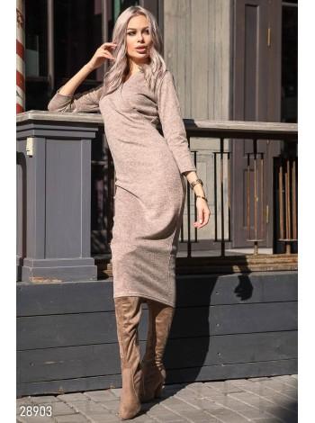 Удлиненное трикотажное платье под заказ ЗПТ93