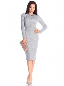 Ангоровое платье с карманами