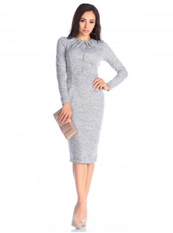 Ангоровое платье с карманами под заказ ЗПТ94