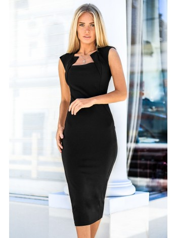 Черное платье-футляр. Сезон весна - лето