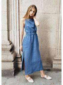 Платье сарафан рубашечный джинс
