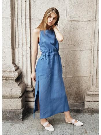 Платье сарафан джинс