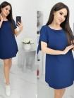 Свободное летнее платье темно-синего цвета