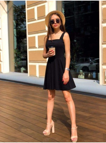 Коктейльное платье черное из креп дайвинга