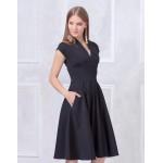 Платье с пышной юбкой миди