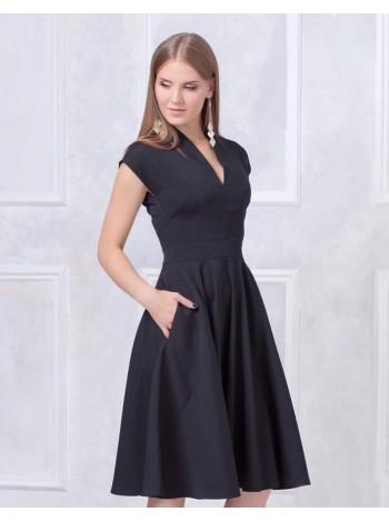 Платье с пышной юбкой черное купить оптом и в розницу
