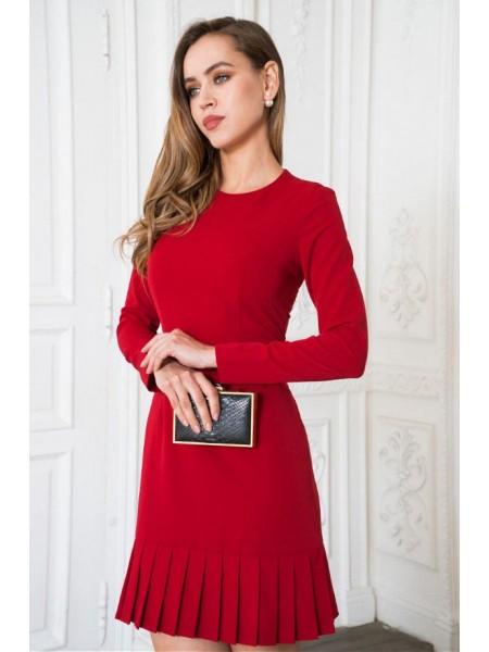Платье деловое с плиссировкой kr