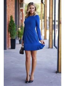 Платье деловое с плиссировкой