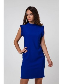 Платье с рюшами деловое
