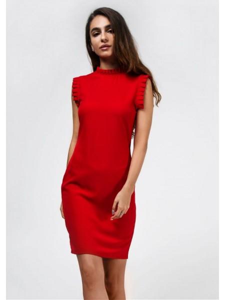 Платье деловое с рюшами