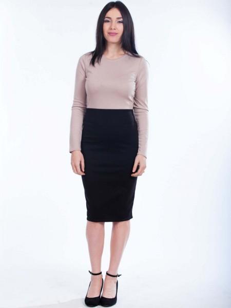Платье футляр двухцветное