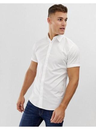Рубашка с коротким рукавом приталенная 70002