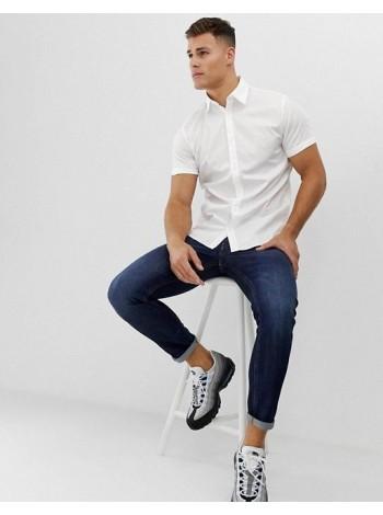 Рубашка с коротким рукавом приталенная 70002 цена от 199 грн.