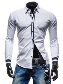 Рубашка с черными вставками под заказ ЗРС26