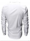 Рубашка приталенная белая с длинными рукавами
